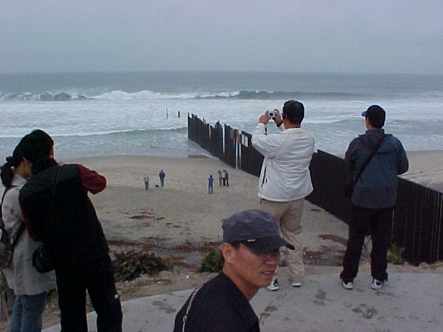 Mexico-USA border fence at Playas de Tijuana